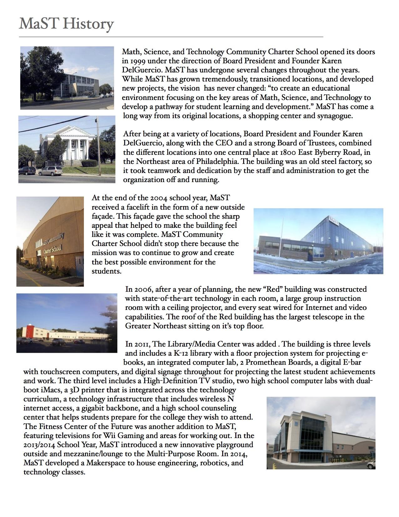 History – MaST Community Charter School