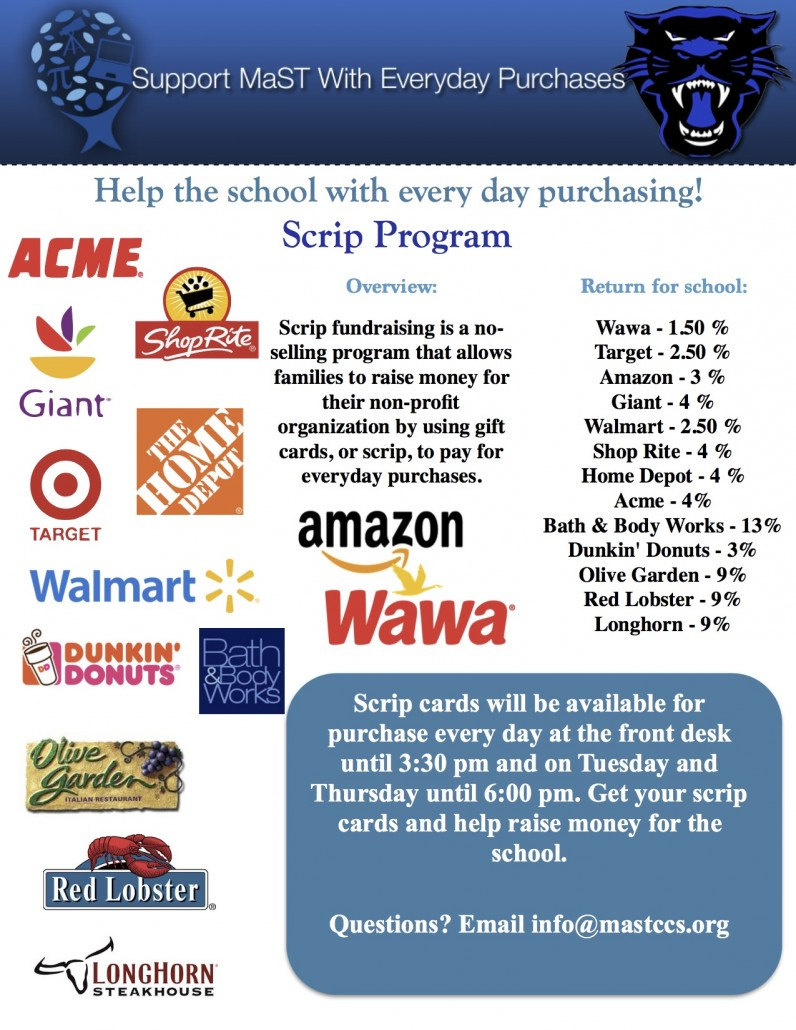 Scrip Program Flyer