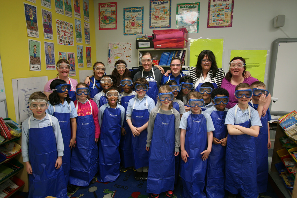 To kick off our first day of chemistry club our second graders made