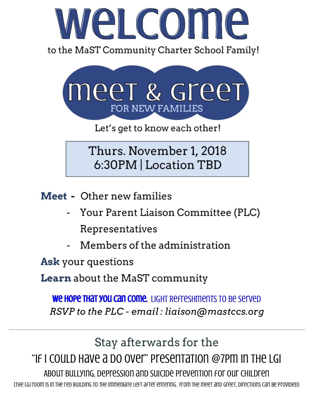 Mast Family Meet Greet 111 Mast Community Charter School